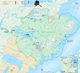 Katmai National Park tourist map
