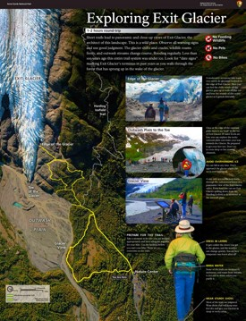 Kenai Fjords Exit Glacier trail map