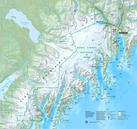 Kenai Fjords National Park tourist map