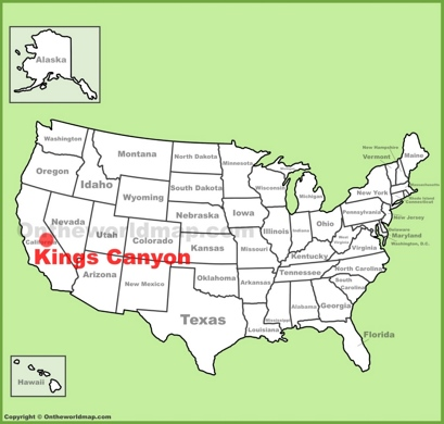 Kings Canyon National Park Location Map
