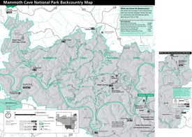 Mammoth Cave backcountry map