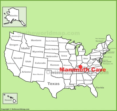 Mammoth Cave Location Map