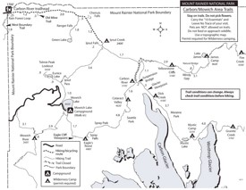 Carbon River and Mowich Lake Area trails map