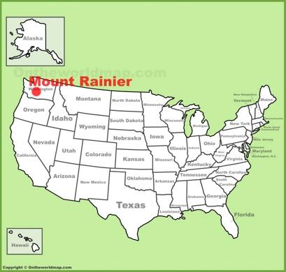 Mount Rainier Location Map