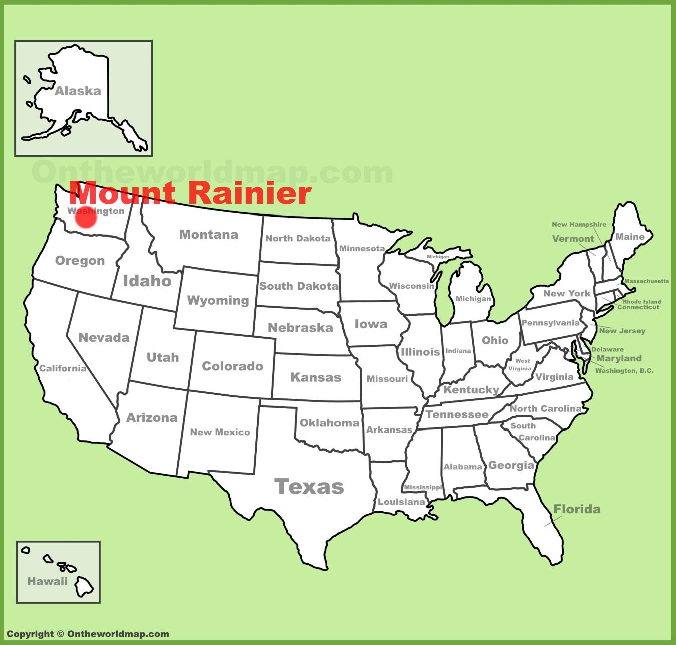 Mount Rainier Map Mount Rainier Maps | USA | Maps of Mount Rainier National Park