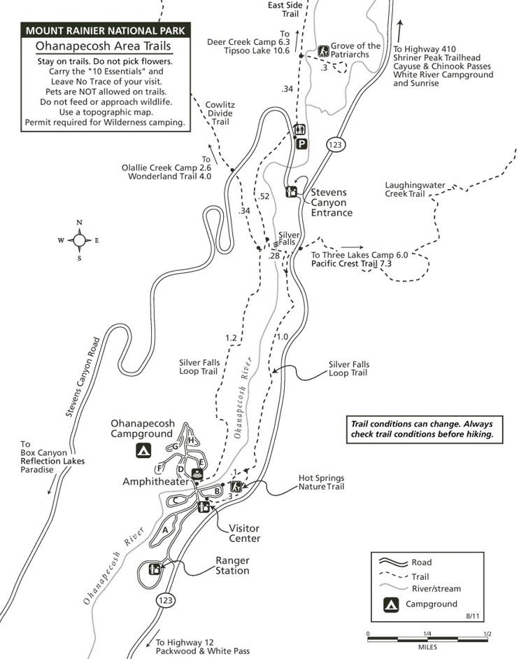 Ohanapecosh Area trails map