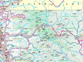 Dog Friendly Fall Hike: Heather-Maple Pass Loop |North Cascades Highway Map