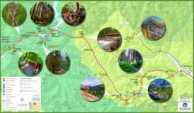 North Cascades highway 20 tourist map