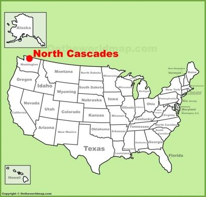North Cascades Location Map