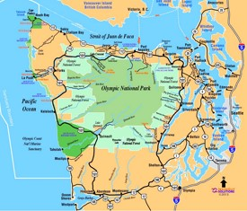 Olympic National Park road map