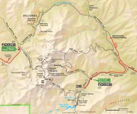 Pinnacles National Park trail map