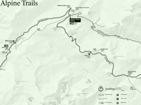 Rocky Mountain Alpine Trails map