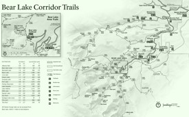 Rocky Mountain Bear Lake Corridors trails map