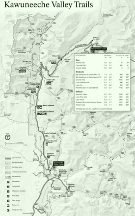 Rocky Mountain Kawunceeche Valley trails map