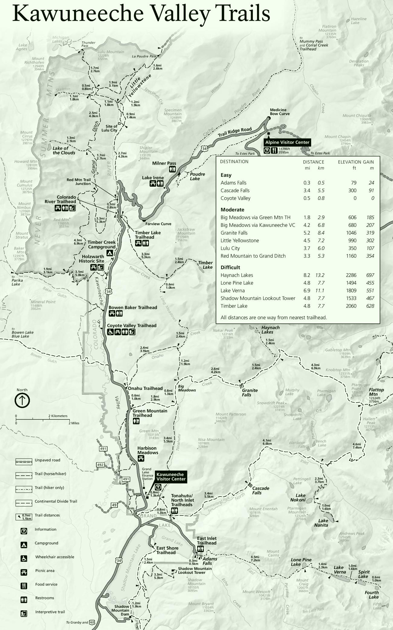 Rocky Mountain National Park Maps   USA   Maps of Rocky Mountain ...