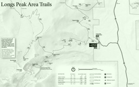 Rocky Mountain Longs Peak Area trails map