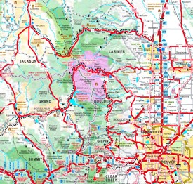 Rocky Mountain National Park area road map