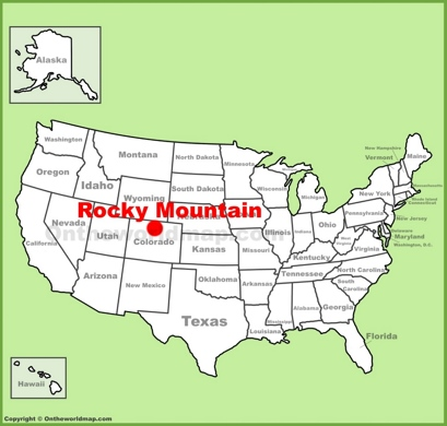Rocky Mountains On Map Of Us Rocky Mountain National Park Maps | USA | Maps of Rocky Mountain