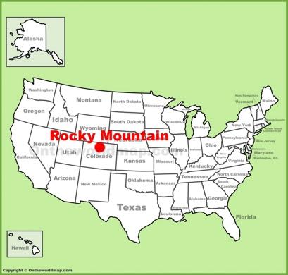 Rocky Mountain National Park Maps USA
