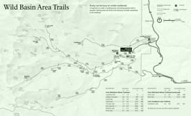 Rocky Mountain Wild Basin Area trails map