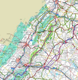 Shenandoah National Park area road map