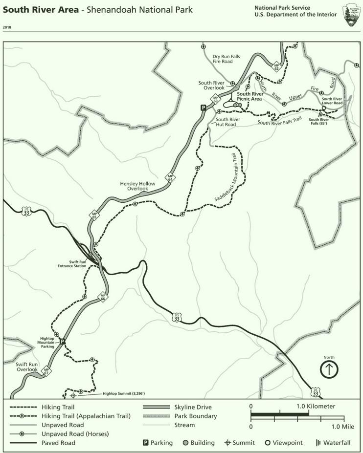 Shenandoah South River Area trail map