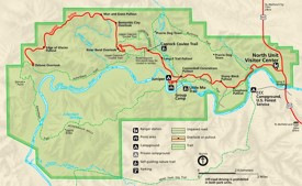 Theodore Roosevelt National Park North Unit tourist map