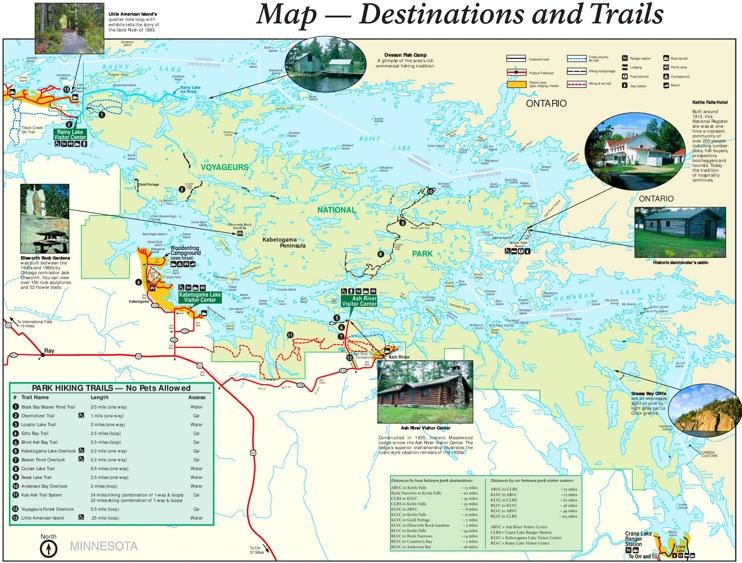 Voyageurs National Park hiking map