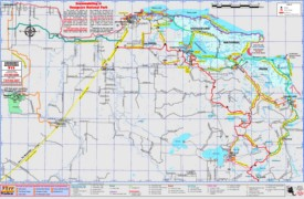 Voyageurs National Park snowmobile trails map