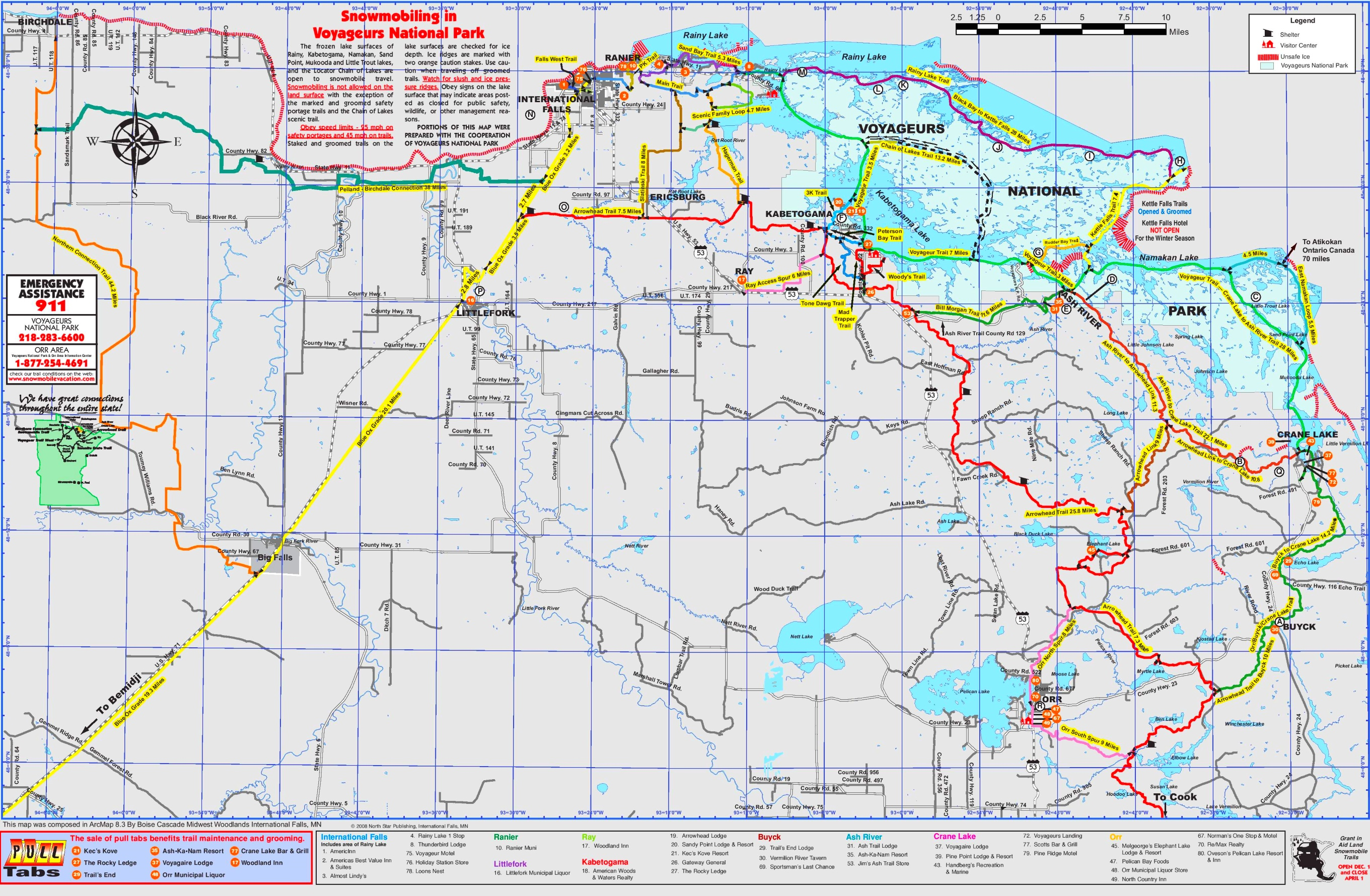 Voyageurs national park snowmobile trails map voyageurs national park snowmobile trails map publicscrutiny Image collections