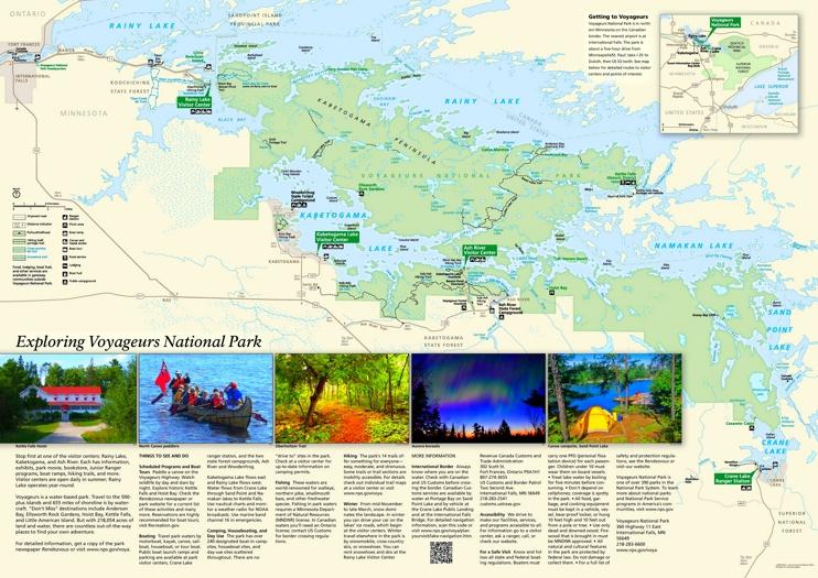 Voyageurs National Park tourist map