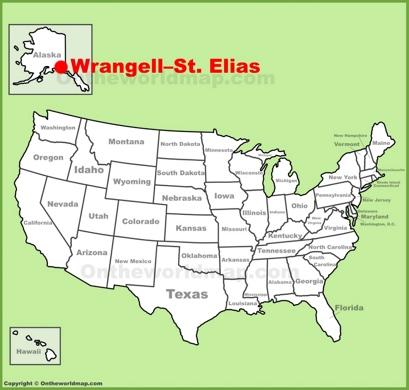 WrangellSt Elias National Park Maps USA Maps of WrangellSt