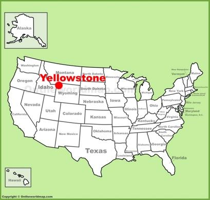 Map Of Yellowstone Yellowstone Maps | USA | Maps of Yellowstone National Park Map Of Yellowstone
