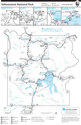 Yellowstone trail map