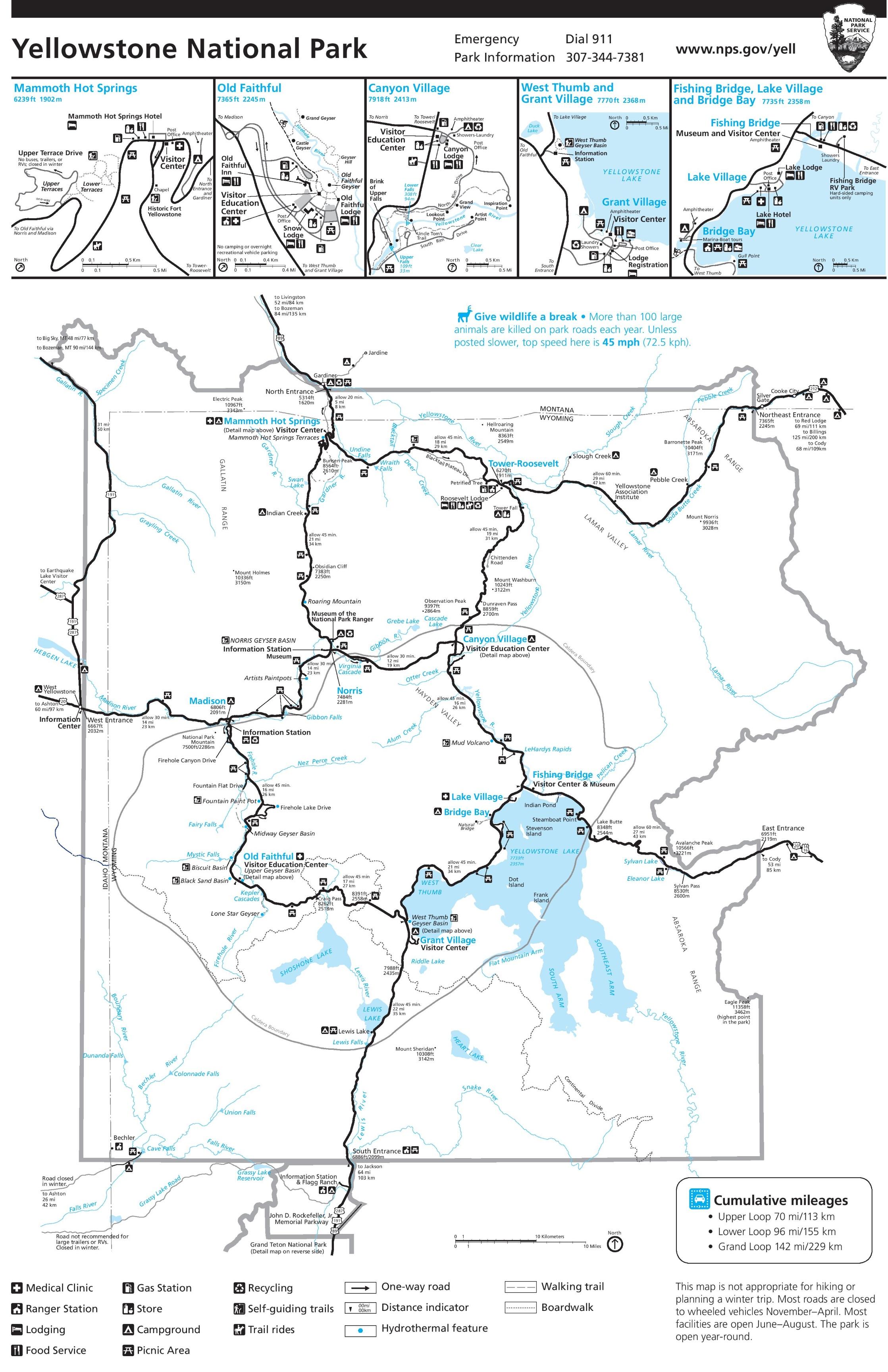 Yellowstone trail map