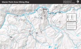 Yosemite Glacier Point area hiking map
