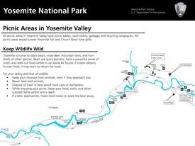 Yosemite Valley picnic areas map