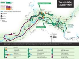Yosemite Valley shuttle bus map