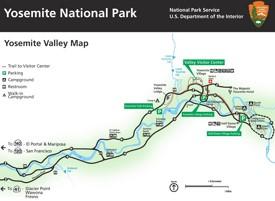 Yosemite Valley tourist map