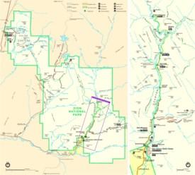 Zion National Park trail map