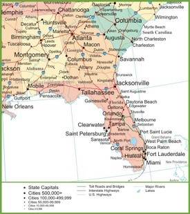 Georgia State Maps USA Maps Of Georgia GA - Us map with georgia