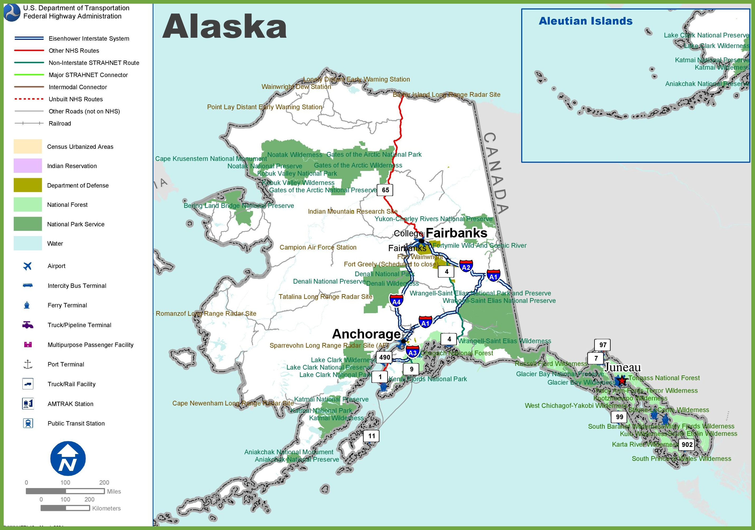 Alaska highway map alaska highway map gumiabroncs Choice Image