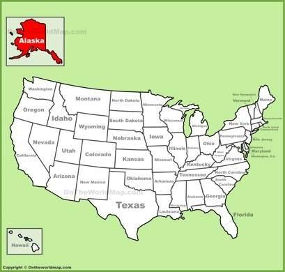 Alaska Location Map