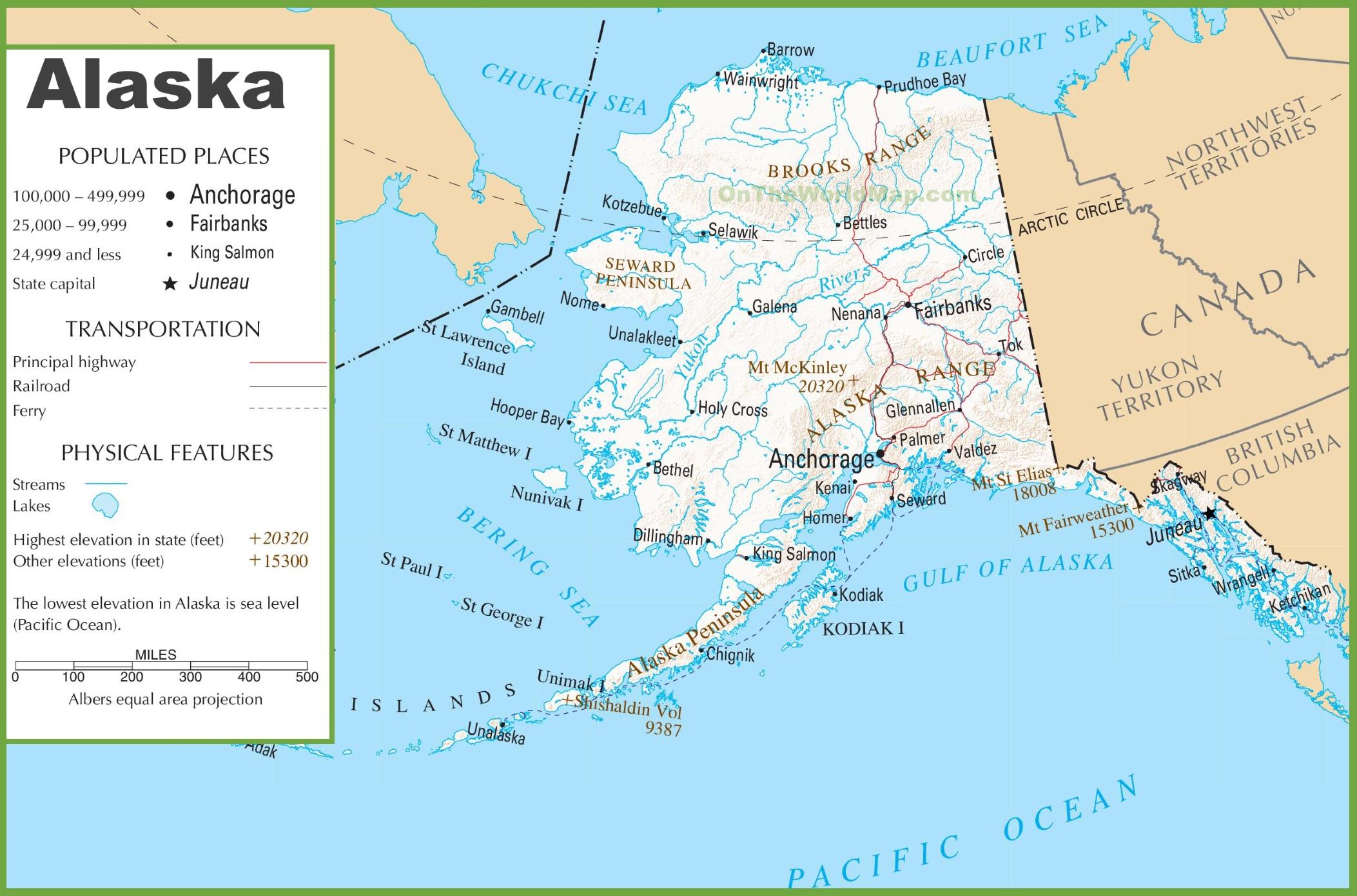 State Of Alaska Map Alaska State Maps | USA | Maps of Alaska (AK)