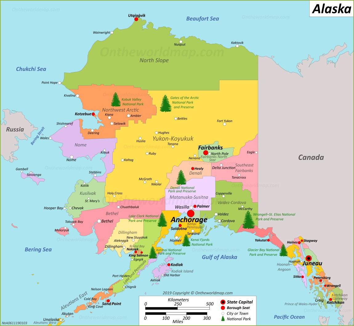 Alaska State Maps Usa Maps Of Alaska Ak