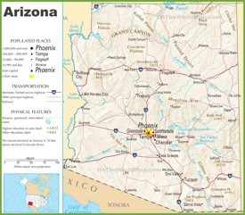 Arizona interstate map