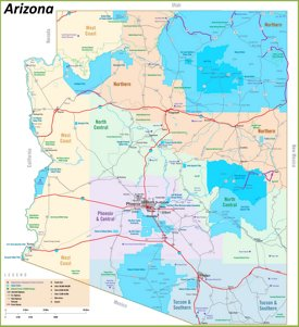 Arizona tribal lands map