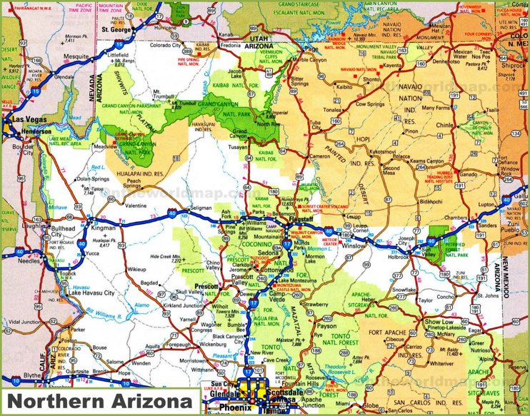 Map of Northern Arizona