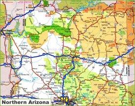 Map of Northern Arizona