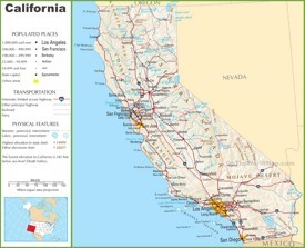 California highway map